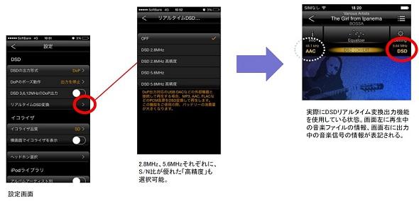 ハイレゾ音楽ファイルの再生アプリ「Onkyo HF Player」が、DSD