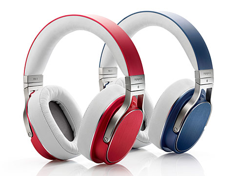 OPPOの平面磁界型ヘッドフォン「PM-3」に新色「チェリーレッド」と「スチールブルー」