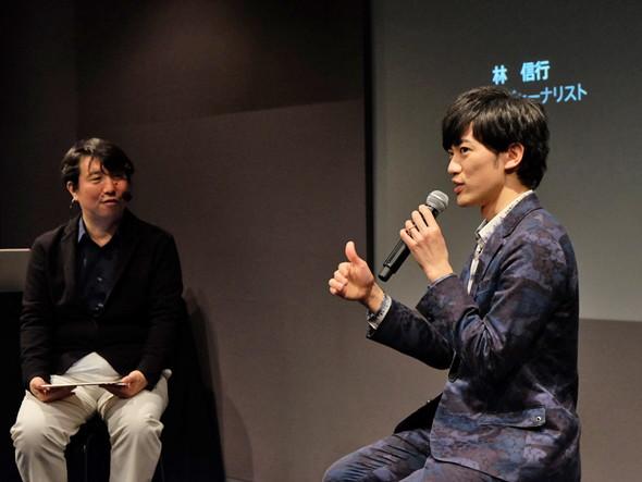 Hueを語る林信行氏(左)とDaiGo氏(右)