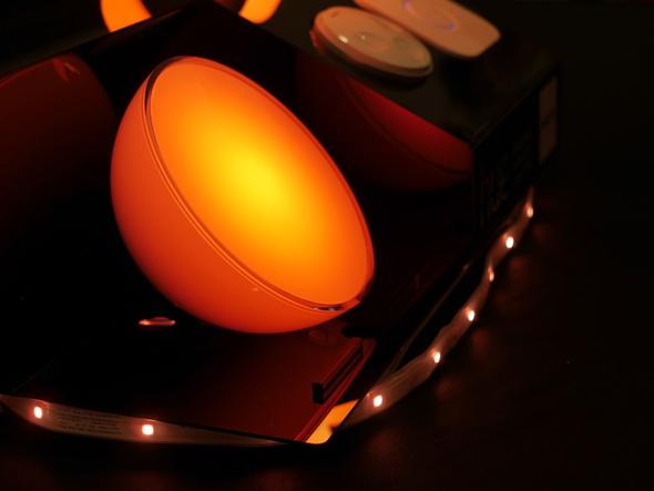 Hue Go、ライトリボン プラスともにiPhoneなどから調光できる