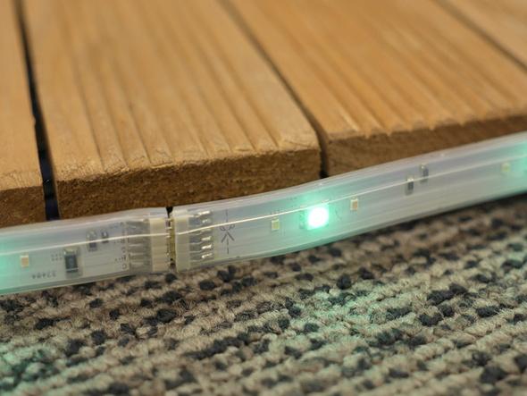 ライトリボン プラスのエクステンション接続部分とカット可能部位