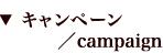 キャンペーン/campaign