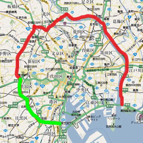 首都高速道路中央環状線の完成 ... : 日本地図 印刷 : 印刷