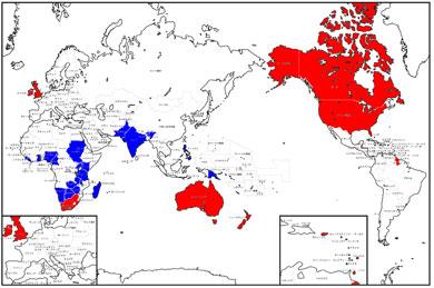 英語圏はこんなにあります。ロゼッタストーンで、まさに世界が広がるハズ