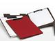 赤、黒、白、茶——合皮カバーのリングバインダーやクリップボード