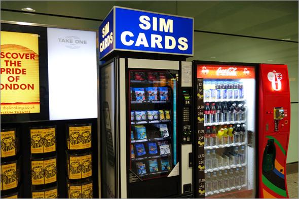 SIMカード自販機