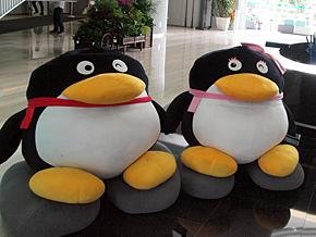 ペンギンがTencentのシンボルキャラクターだ