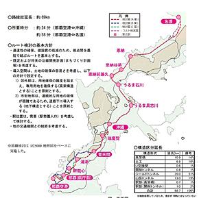 沖縄県の鉄道建設計画(出典:沖縄県Webサイト)