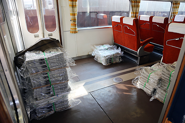 普通列車の早朝便は新聞輸送などで地域に貢献している