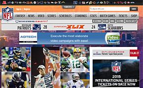 NFLの公式サイト