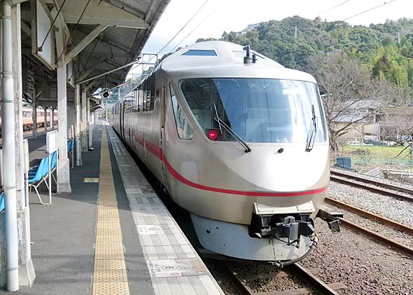 北近畿タンゴ鉄道名物の特急車両KTR001形。老朽化のため定期運用を外れた