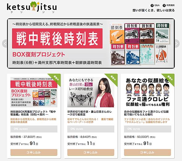 KADOKAWAが始めた募集型サイト「ketsujitsu」