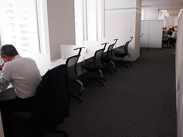 集中して作業したいときなどに使う座席