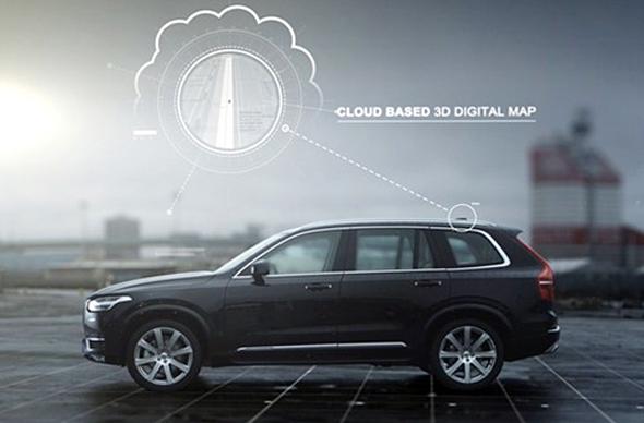 ボルボの自動運転車システムソリューション(出典:同社プレスリリース)