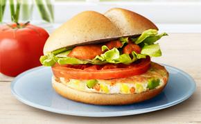 新商品の「ベジタブルチキンバーガー」