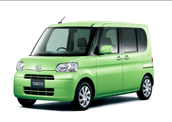 ダイハツ・タント。軽自動車の主要車種は車高別に低・中・高の3モデルがある