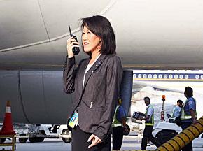 2014年9月にクアラルンプールに赴任した旅客ハンドリング担当の緒方奈美さん