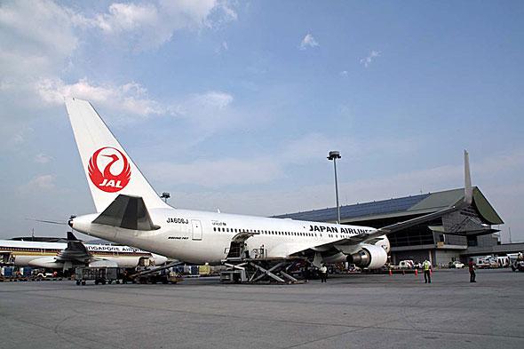 成田からの723便(ボーイング767-300ER)は毎日17時45分に到着する