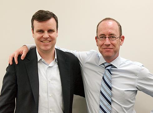 Tom Eggemeier氏(左)とMerijn te Booij氏