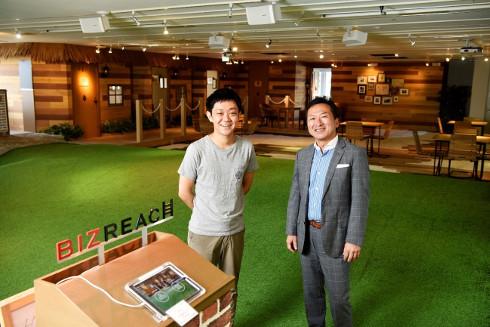 ビズリーチ青山弘幸氏(左)と筆者(右)