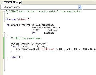 コードを追加したWinMain関数