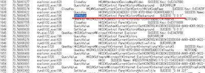 デスクトップの背景を黒に設定した際のレジストリ情報