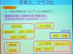 走行方法のオブジェクトは、直線走行、急カーブ走行、緩カーブ走行になる(1)