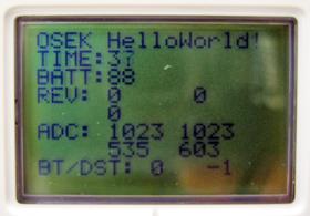 配線後にhelloworldプログラムを実行した様子2