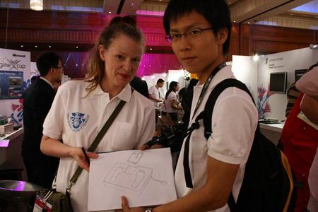 長田さんとラモナ先生