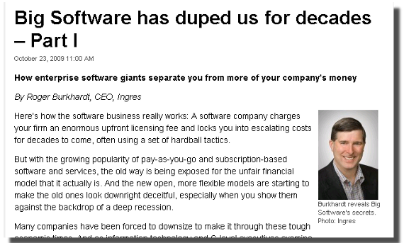 Big Software has duped us for decades