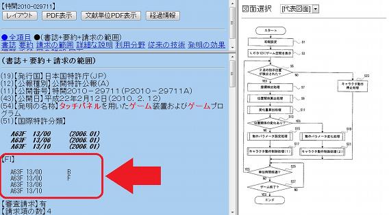図8 ステップ(1)ヒットした公報の特許分類を確認