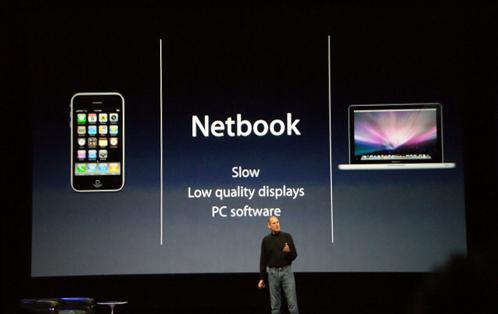 Appleのスティーブ・ジョブズ氏のプレゼンテーション