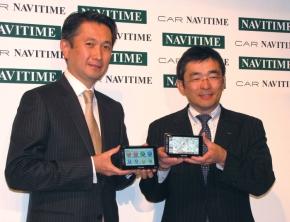 写真1ナビタイムジャパンの大西啓介氏(左)とKDDIの高橋誠氏