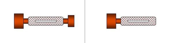 図5 両口リミット・ゲージ(左)/図6 片口リミット・ゲージ(右)