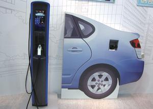 写真6豊田自動織機/日東工業の充電スタンドの新モデル