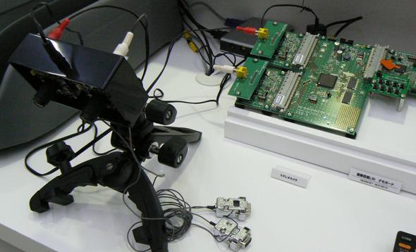 左がデモに用いられたステレオカメラ
