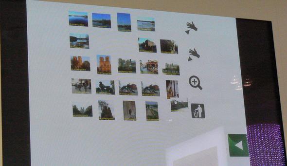 画像ファイルの各種操作をジェスチャで実演