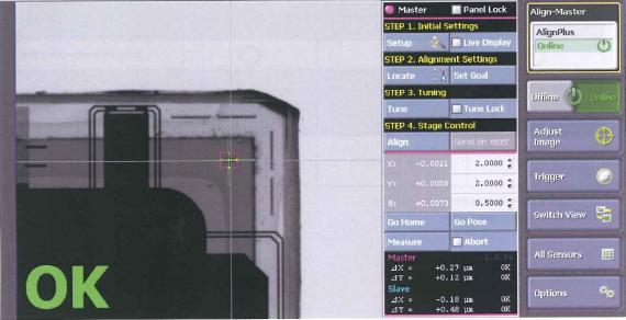 VisionViewによる操作画面例