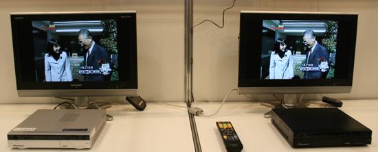 左はケーブルテレビ視聴用のパイオニアの商用STB「BD-V371」、右はBD-V371の後継機でAndroidを搭載した試作機