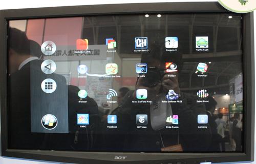 Windows Embedded Standard 7マシンでAndroidアプリケーションを起動した様子