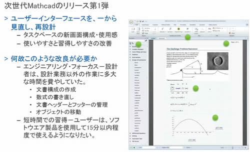 Mathcad Prime 1.0の改良点とインターフェイス例