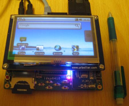 Android組み込みボード「マルチ・メディア ARM11ボード Idea6410+LCD4.3」