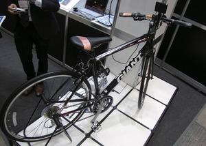 写真15人体通信技術を利用した自転車
