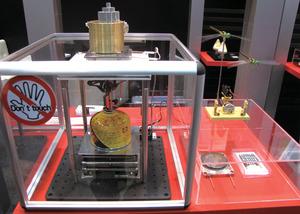 写真16熱電変換モジュールを用いたデモ