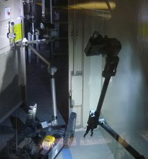 多目的作業ロボット「iRobot 510 PackBot」の原子炉建屋内での様子(2)