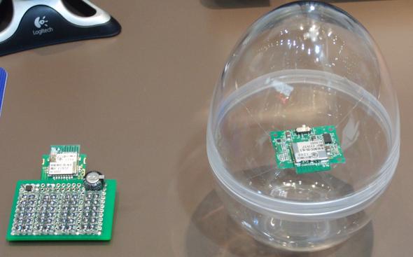 パイソフトラブ製のアンテナ一体型無線モジュールを搭載したセンサー
