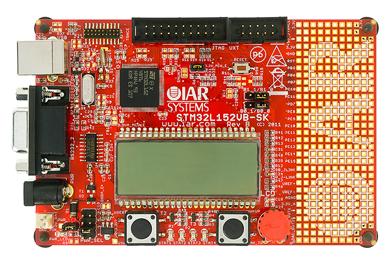 STマイクロエレクトロニクス製「STM32L152VB」搭載の評価ボード