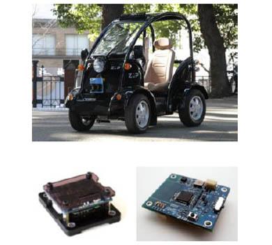 「RoboCar MEV」(上)、「e-nuvo IMU-Z」(下段左)、「e-nuvo Position-Z」(下段右)