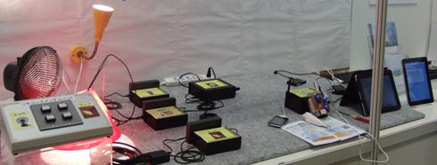 財団法人 京都高度技術研究所/ワイヤレスコントロール研究会の展示デモ