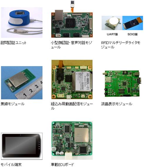 各種組み込み技術応用商品の例